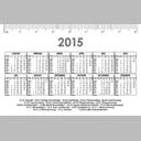 Taschenkalender im Visitenkartenformat